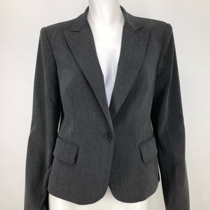 Body by Victoria 10 Gray Blazer Jacket Fitted